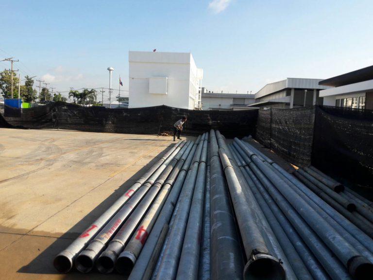 ท่อ ASTM ขนาด 10 นิ้ว และ 6 นิ้ว ใช้ก่อสร้างบ่อ